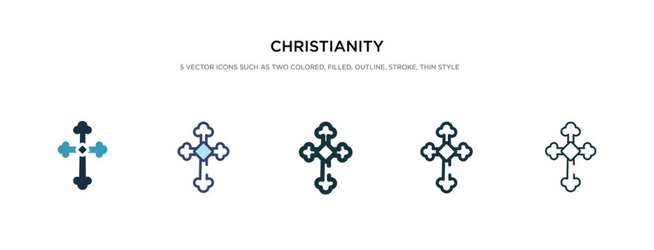 christianity icon in different style vector illustration. two colored and black christianity vector icons designed in filled, outline, line and stroke style can be used for web, mobile, ui