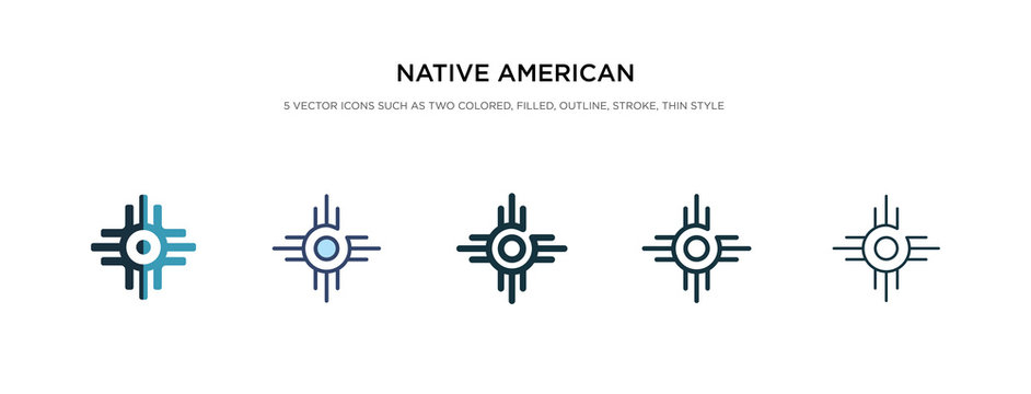 native american sun icon in different style vector illustration. two colored and black native american sun vector icons designed in filled, outline, line and stroke style can be used for web,