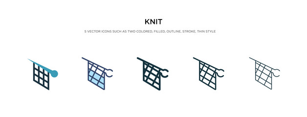 knit icon in different style vector illustration. two colored and black knit vector icons designed in filled, outline, line and stroke style can be used for web, mobile, ui