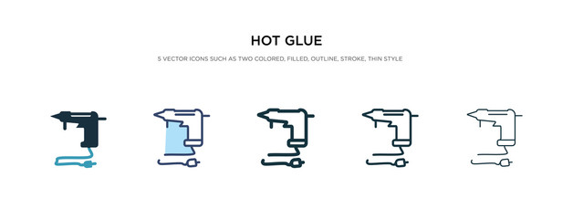 hot glue icon in different style vector illustration. two colored and black hot glue vector icons designed in filled, outline, line and stroke style can be used for web, mobile, ui