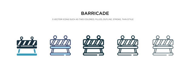 barricade icon in different style vector illustration. two colored and black barricade vector icons designed in filled, outline, line and stroke style can be used for web, mobile, ui