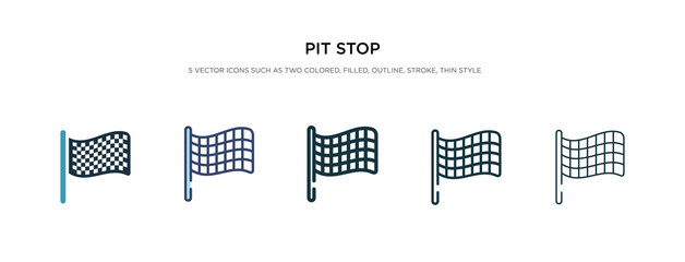Fotobehang F1 pit stop icon in different style vector illustration. two colored and black pit stop vector icons designed in filled, outline, line and stroke style can be used for web, mobile, ui