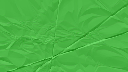 crumpled green paper background close up Wall mural