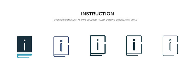 instruction icon in different style vector illustration. two colored and black instruction vector icons designed in filled, outline, line and stroke style can be used for web, mobile, ui