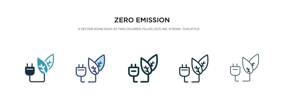 zero emission icon in different style vector illustration. two colored and black zero emission vector icons designed in filled, outline, line and stroke style can be used for web, mobile, ui