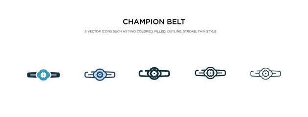 champion belt icon in different style vector illustration. two colored and black champion belt vector icons designed in filled, outline, line and stroke style can be used for web, mobile, ui