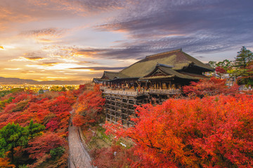 Photo sur Plexiglas Kyoto Kiyomizu-dera stage at kyoto, japan in autumn