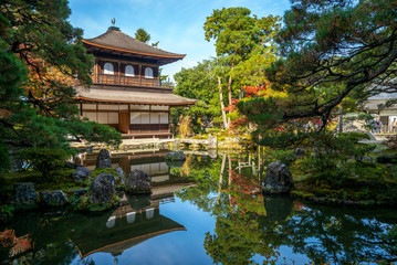 Fotorollo Kyoto Temple of the Silver Pavilion in Kyoto, Japan