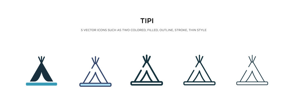 tipi icon in different style vector illustration. two colored and black tipi vector icons designed in filled, outline, line and stroke style can be used for web, mobile, ui