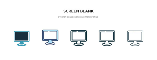 Obraz screen blank icon in different style vector illustration. two colored and black screen blank vector icons designed in filled, outline, line and stroke style can be used for web, mobile, ui - fototapety do salonu
