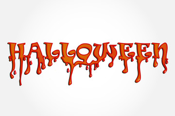 Halloween word blood drop party background