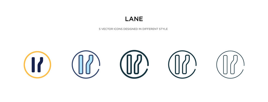 lane icon in different style vector illustration. two colored and black lane vector icons designed in filled, outline, line and stroke style can be used for web, mobile, ui