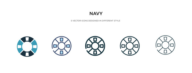 navy icon in different style vector illustration. two colored and black navy vector icons designed in filled, outline, line and stroke style can be used for web, mobile, ui