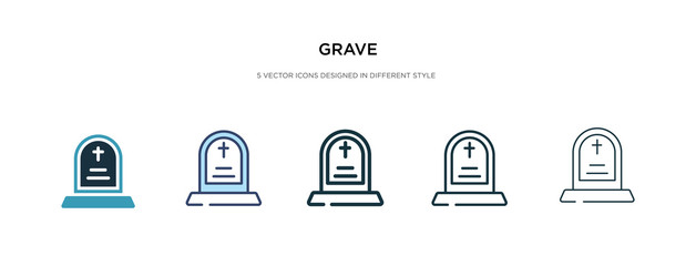 grave icon in different style vector illustration. two colored and black grave vector icons designed in filled, outline, line and stroke style can be used for web, mobile, ui Fototapete