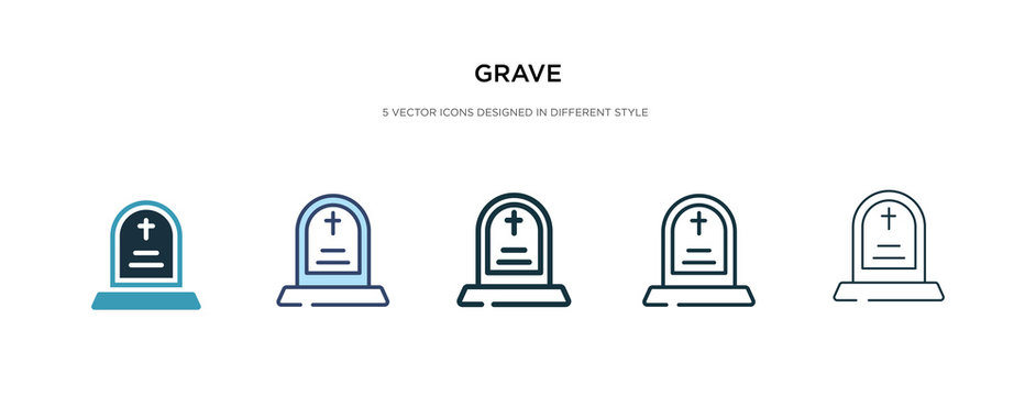 grave icon in different style vector illustration. two colored and black grave vector icons designed in filled, outline, line and stroke style can be used for web, mobile, ui