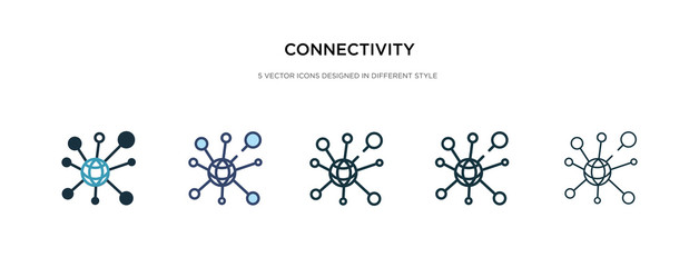 connectivity icon in different style vector illustration. two colored and black connectivity vector icons designed in filled, outline, line and stroke style can be used for web, mobile, ui