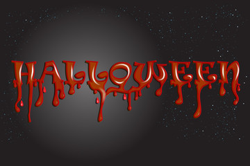 Halloween bloody word text party background