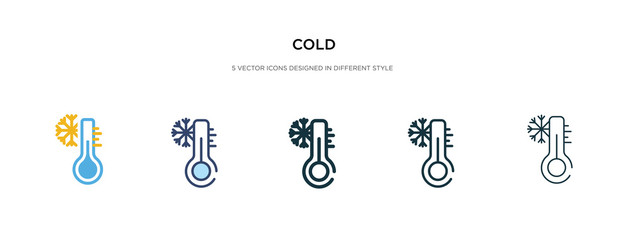 cold icon in different style vector illustration. two colored and black cold vector icons designed in filled, outline, line and stroke style can be used for web, mobile, ui