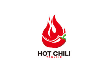hot chili logo icon vector isolated