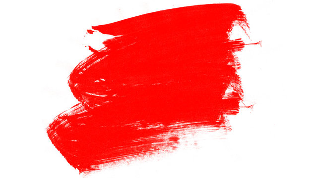 Red paint smear background