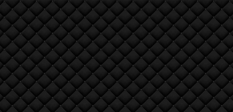 Black luxury leather pattern background. Vector illustration.
