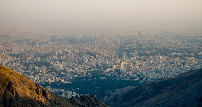 View on Teheran (Iran) from Elbrus Mountain Range