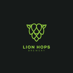 Lion hops logo