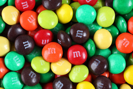 Tambov, Russian Federation - August 26, 2012: M&M's candy. M&M's produced by Mars, Incorporated.