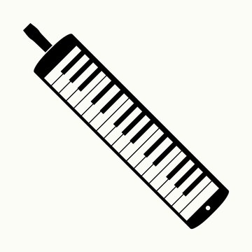 Melodica free-reed instrument with musical keyboard