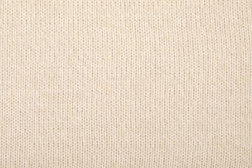 Beige melange knitting fabric textured background