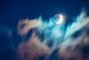 Moon sky background