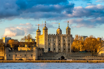 Tower of London at sunset, England, Famous Place, International Landmark
