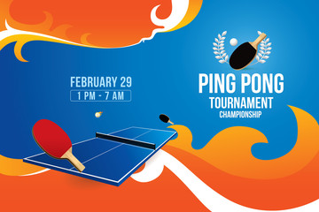 Vector of ping pong background. Sports concept