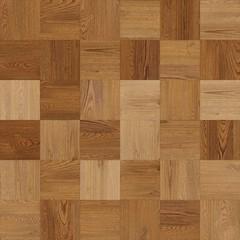 Obraz Seamless wood parquet texture chess light brown - fototapety do salonu