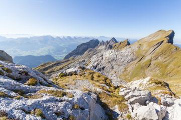 Aussicht auf Toggenburg vom Säntis, Schweiz