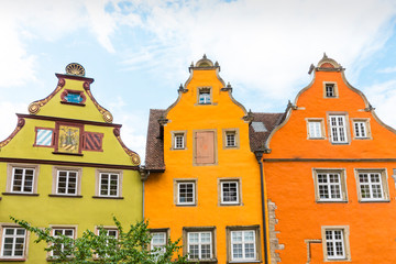Wall Murals Colorful gable houses in Schwabisch Hall, Germany