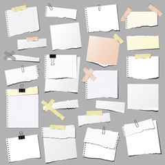 set of note papers, isolated