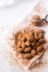 Sprinkle Cocoa Powder, close-up