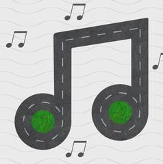 Strassenverlauf in Form einer Musiknote