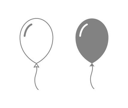 balloon outline icon