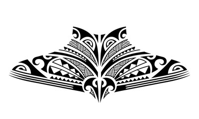 Maori tattoo sketch. Tribal ethno style tattoo for neck, back, chest.