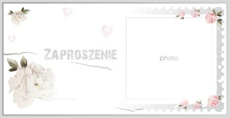 Obraz Zaproszenie, invitation, urodziny, impreza - fototapety do salonu