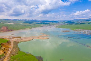 Beautiful aerial landscape in eastern Turkey.