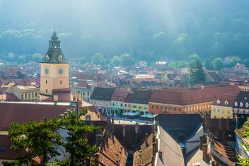 Cityscape of Brasov (Transilvania, Romania, Europe)