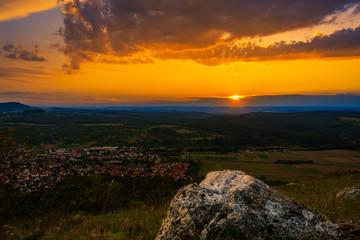 Sunset in the summer season