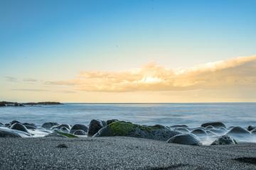 Beach with litte rocks