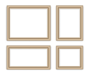 Set photo frame - stock vector