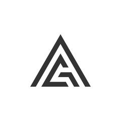 G A Letter Triangle Logo Template Illustration Design. Vector EPS 10.