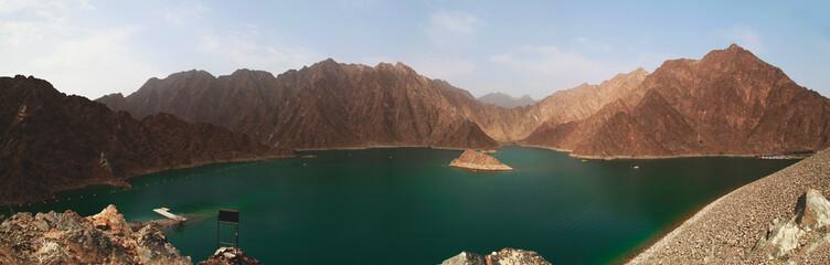 Foto op Plexiglas Diepbruine hatta kayak dam at united arab emirates
