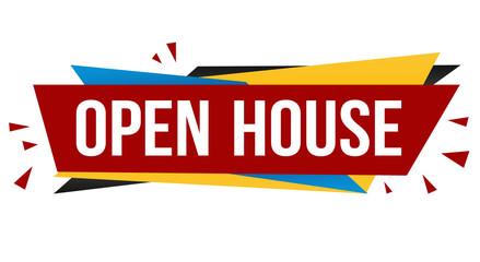 Open house banner design